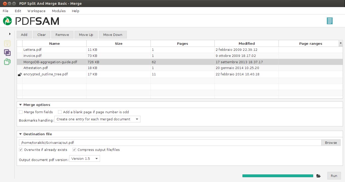 PDFsam merge pdf preview