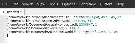 Exported PDF list
